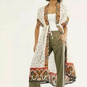 New $330 Free People Summer Mirage Kimono sz M/L